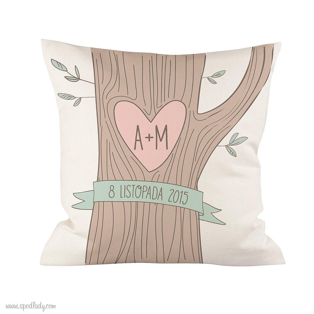 """Personalizowana podusia """"Drzewo miłości"""""""