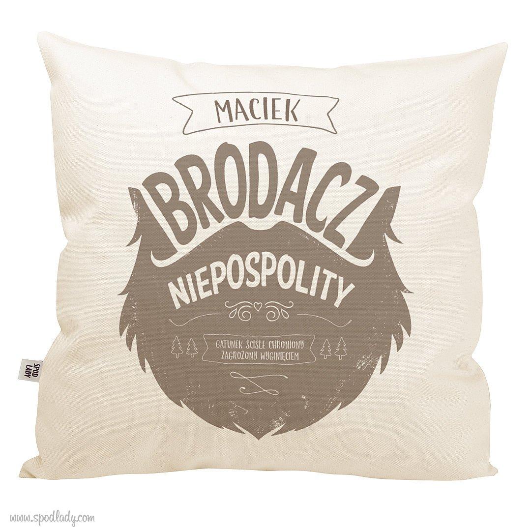 """Personalizowana poduszka """"Brodacz niepospolity"""""""