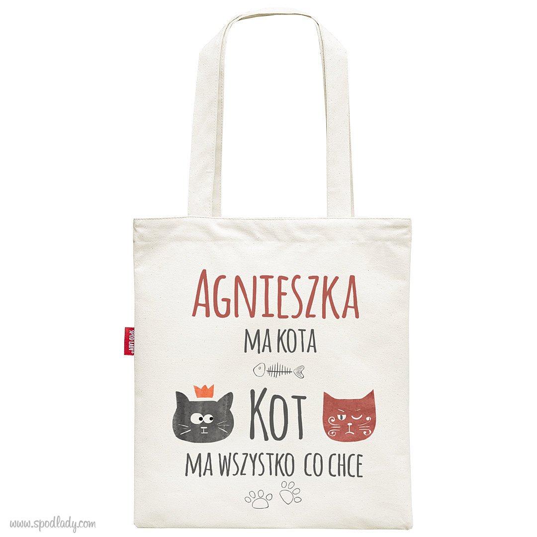 Personalizowana torba dla wielbicielki kotów