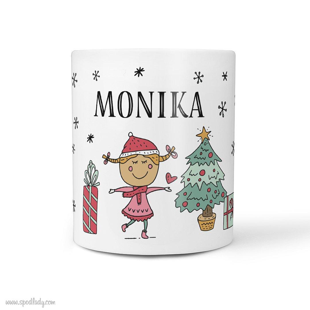 """Personalizowany kubek """"Święta"""" dla niej"""