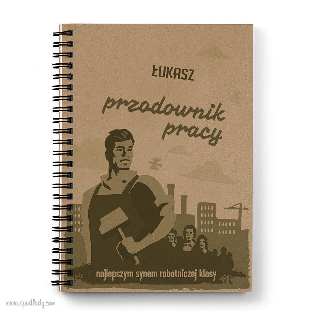"""Personalizowany notes """"Przodowniczka pracy"""""""