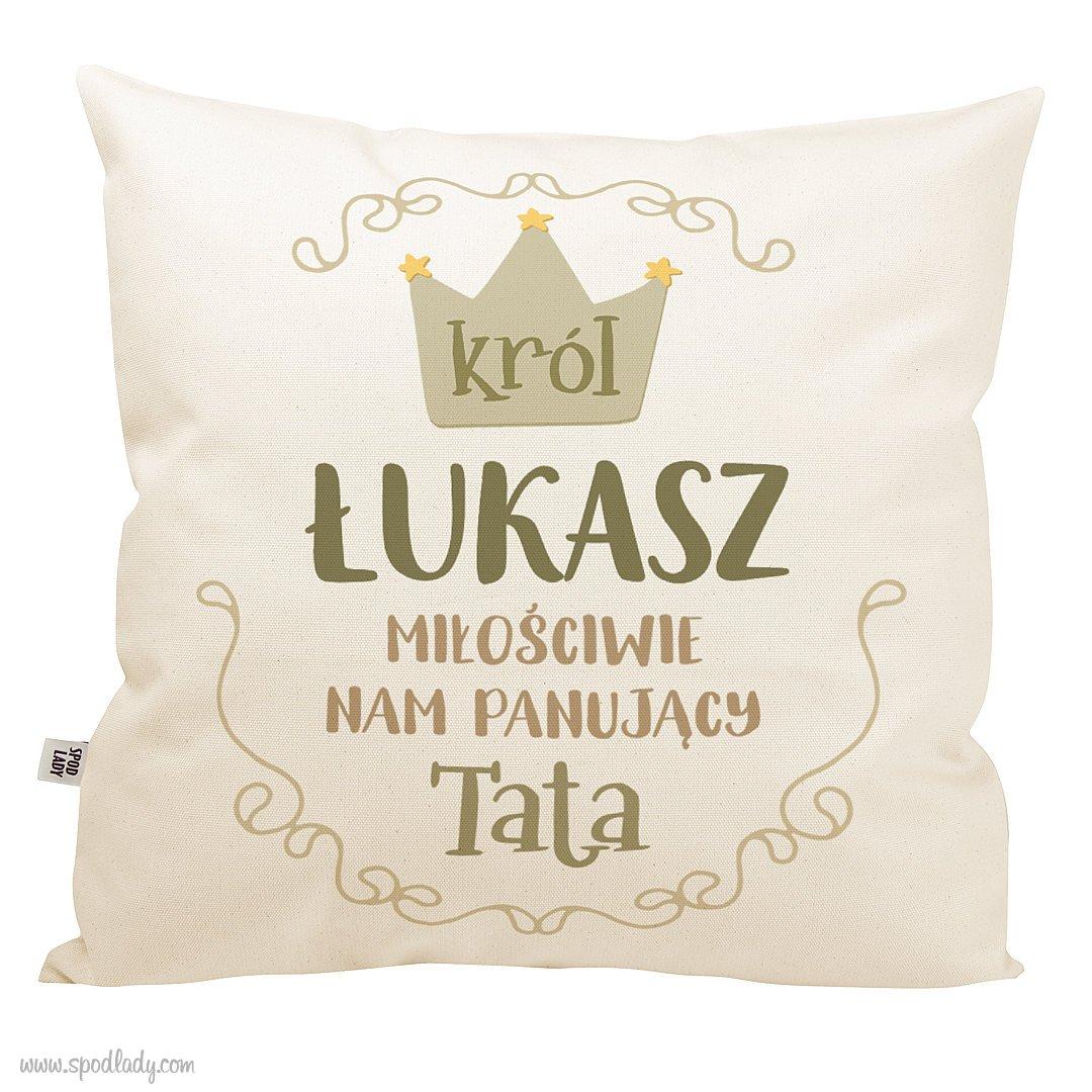 """Poduszka z imieniem """"Król tata"""""""