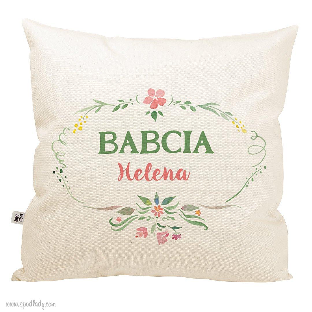Poduszka z imieniem dla Babci