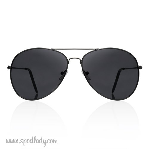 Okulary aviatory czarne