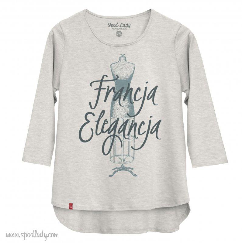 Bluzka damska szara Francja elegancja