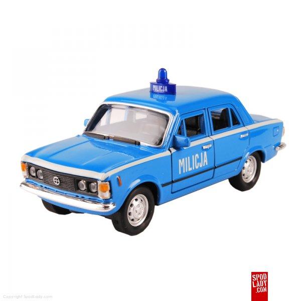 Miniaturka fiata 125p - milicja niebieska