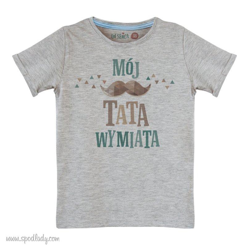 """Koszulka dla chłopca """"Mój tata wymiata"""""""