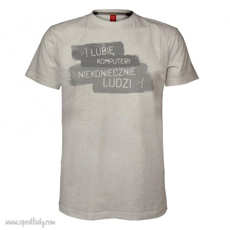 """Koszulka męska """"Lubię komputery, niekoniecznie ludzi"""""""