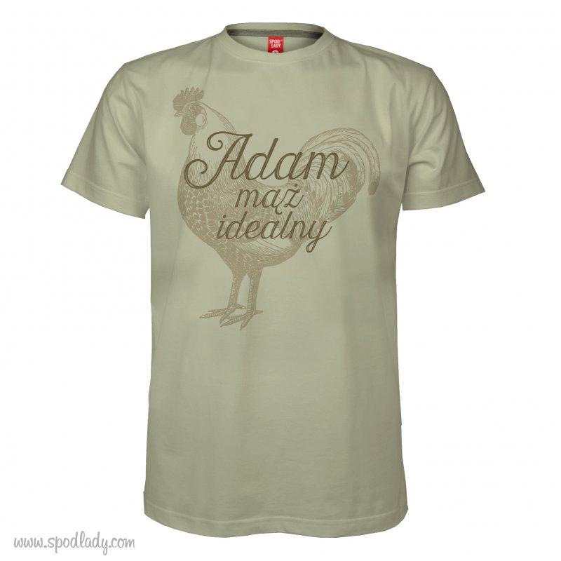 """Personalizowana koszulka mêska """"M±¿ idealny"""""""