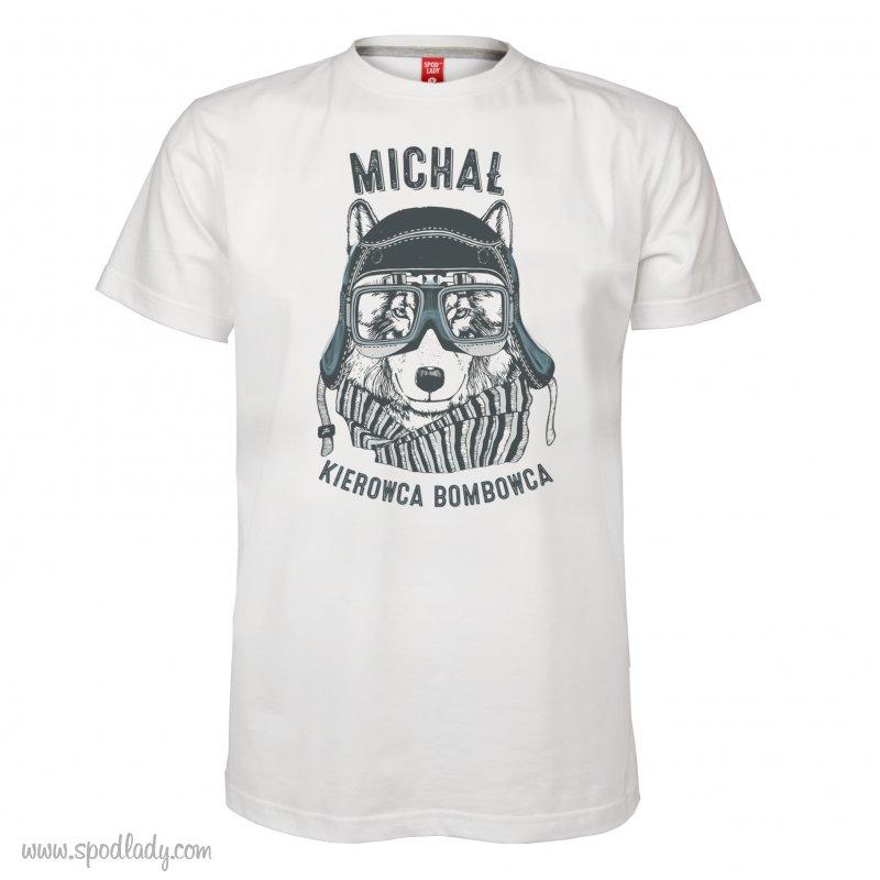 """Koszulka mêska z imieniem """"Kierowca bombowca"""""""