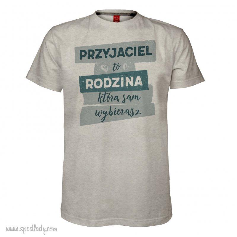 """Koszulka mêska """"Przyjaciel to rodzina"""""""