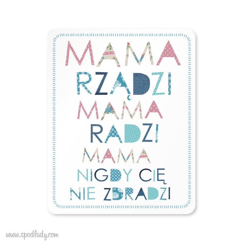 """Magnes drewniany """"Mama rz±dzi"""""""