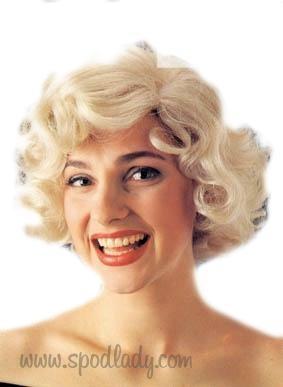 Peruka Blond W Stylu Lat 50 Tych Spod Lady Retro Prezenty