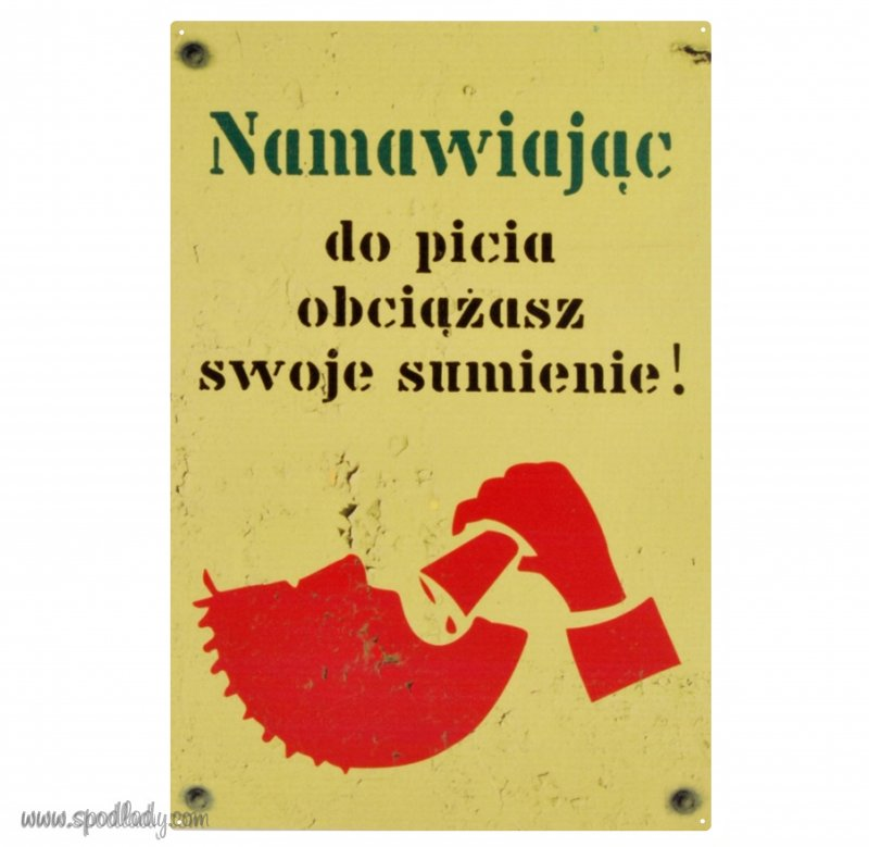 "Tablica ""Namawiając do picia"""