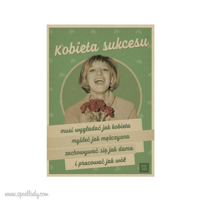 """Pocztówka """"Kobieta sukcesu"""""""