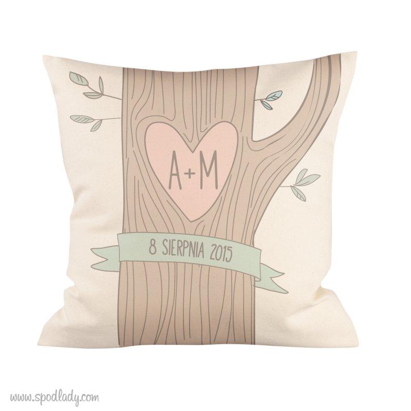 """Personalizowana podusia """"Drzewo mi³o¶ci"""""""