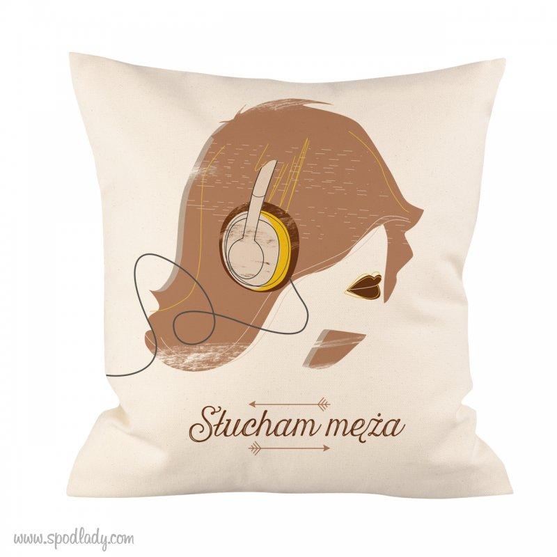 """Mała poduszka """"Słucham męża"""""""
