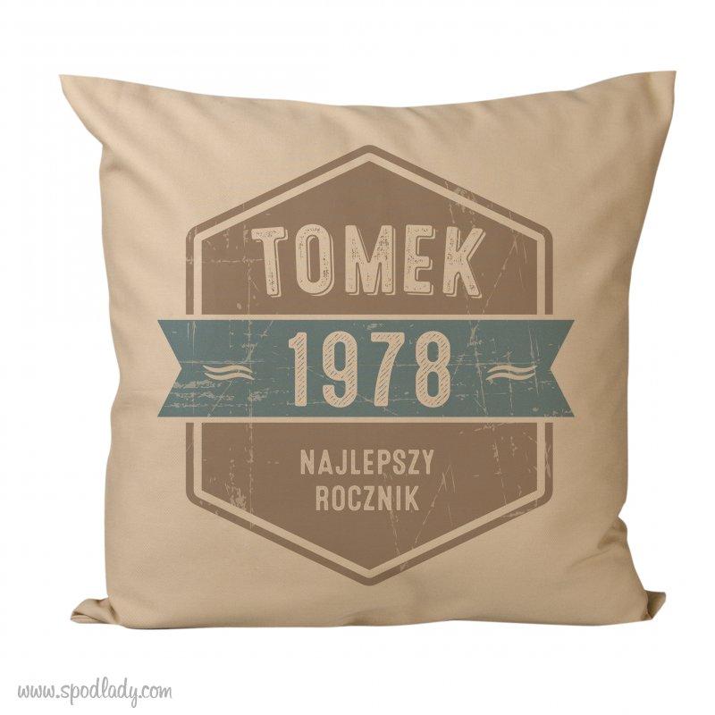 """Personalizowana poduszka """"Najlepszy Rocznik"""""""