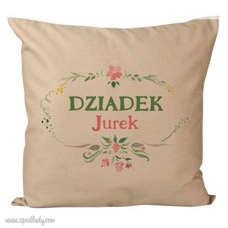Poduszka z imieniem dla Dziadka