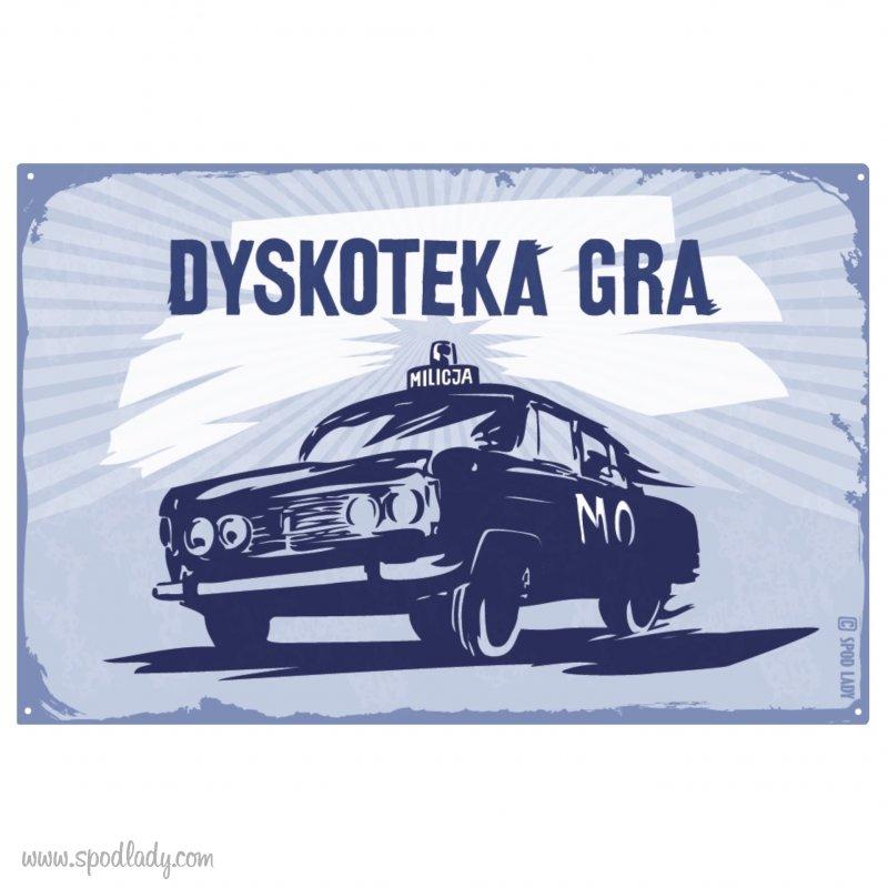 "Tablica ""Dyskoteka gra"""
