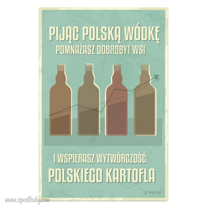"Tablica ""Polska wódka"""