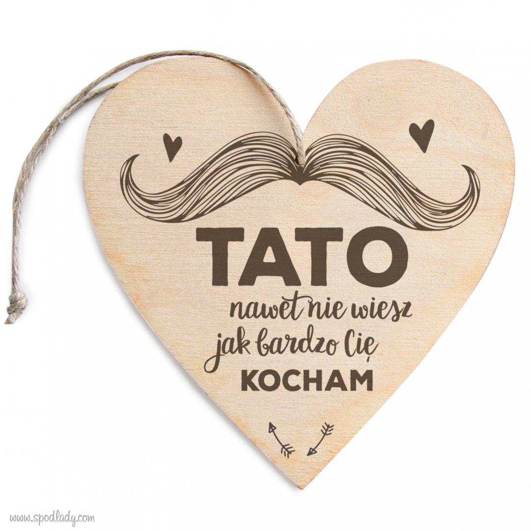 """Zawieszka drewniana """"Tato kocham"""""""